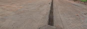 18.06.2018 – Der erste Graben für die Entwässerung
